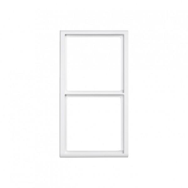 88914B3NV Rahmen für Abdeckplatten 2-fach Hochformat, weiß