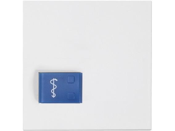 88881D3 Abdeckplatte für Ruftaster (Arztruf) Ruftaster (blau), weiß