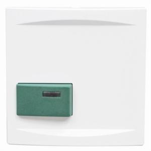 88881H3 Abdeckplatte mit Taste -grün-, weiß, B: 68 mm H: 68 m