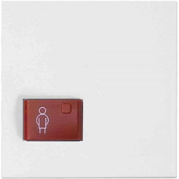 88881G3N Abdeckplatte mit Taste -rot-, weiß