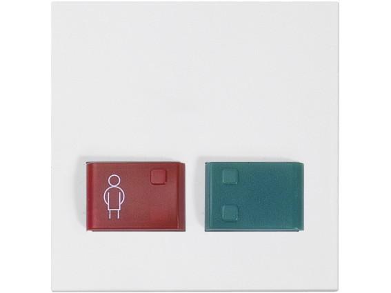 88882A3 Abdeckplatte mit Tasten -rot und grün-, weiß