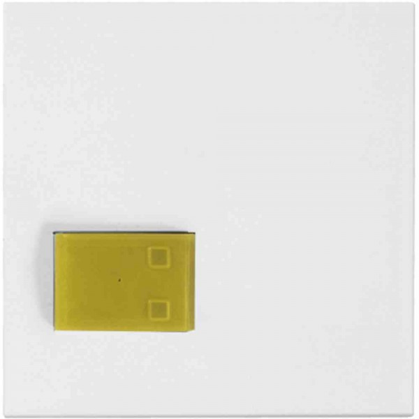 88881M3N Abdeckplatte mit Taste –gelb–, weiß