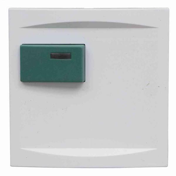88881H4 Abdeckplatte mit Taste –grün– für Abstellmodul, weiß, B: 68 mm H: 68 m