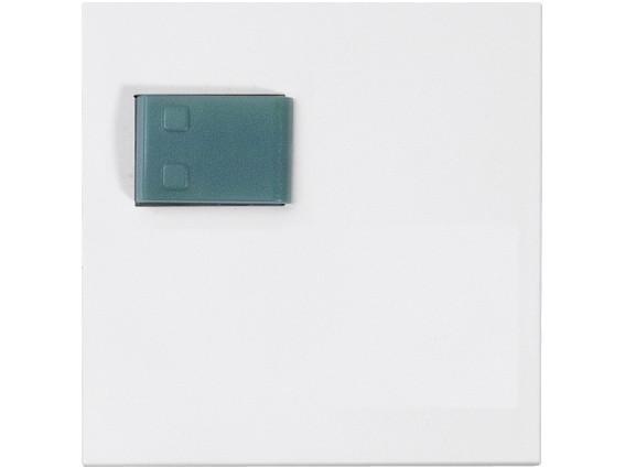 88881H4N Abdeckplatte mit Taste –grün– für Abstellmodul, weiß