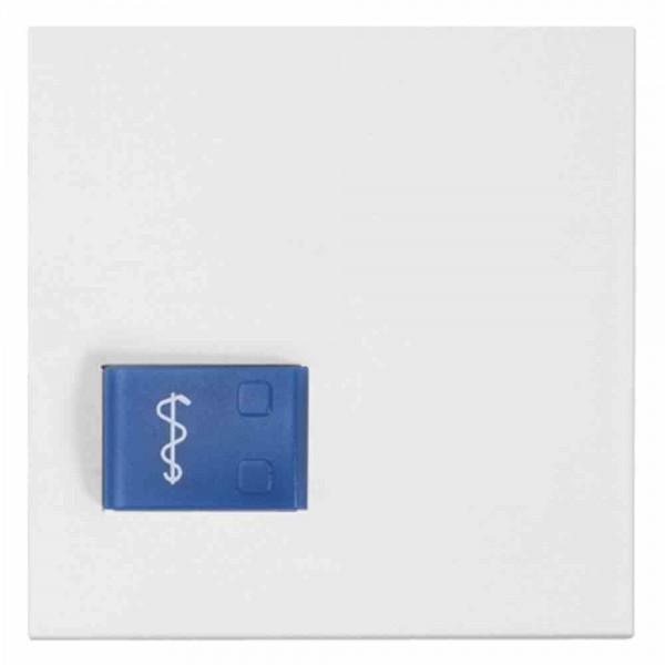 88881D3N Abdeckplatte für Ruftaster (Arztruf) Ruftaster (blau), weiß