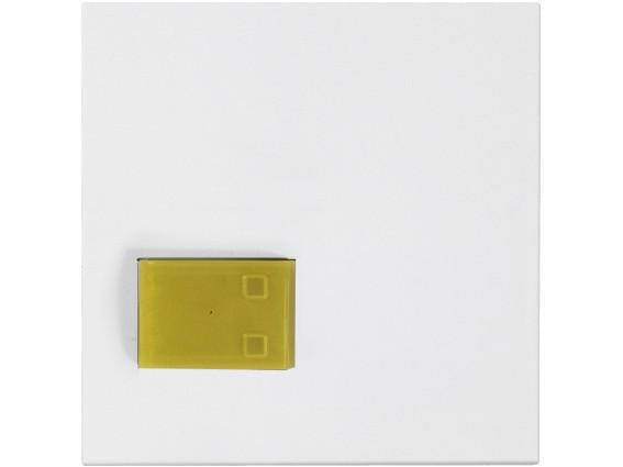 88881M3 Abdeckplatte mit Taste –gelb–, weiß