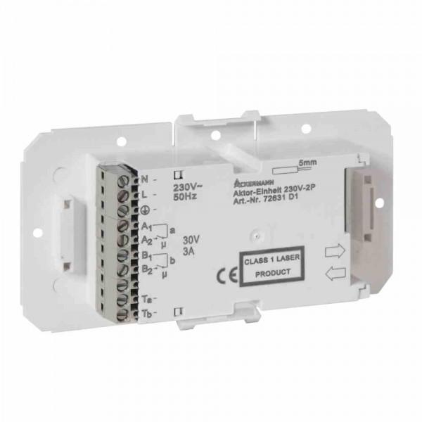 72631D1 Aktoreinheit AE230-2 free (2 potenzialfreie Kontakte), weiß, IP40, L: 142 mm B: 78,5