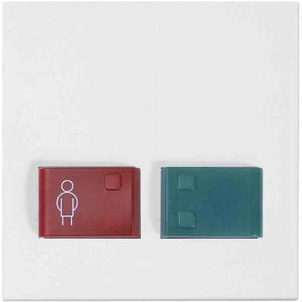 88882A3N Abdeckplatte mit Tasten -rot und grün-, weiß