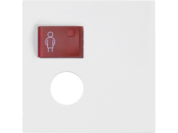 88881L3N Abdeckplatte mit Taste –rot– für 1 Steckkontakt, weiß