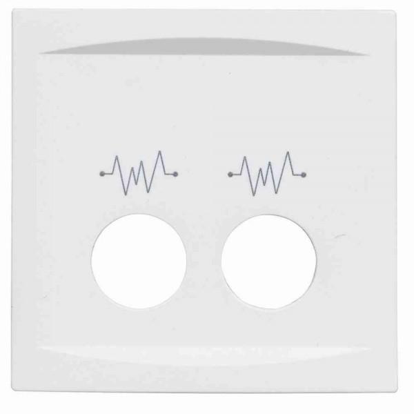 88912D3 Abdeckplatte für Rufeinheit mit 2 Diagnostik-Steckkontakten, weiß