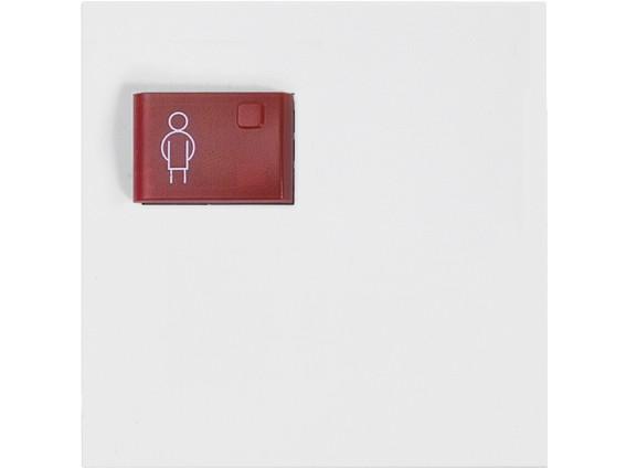 88881K3 Abdeckplatte mit Taste –rot– für Rufmodul, weiß, B: 68 mm H: 68 m