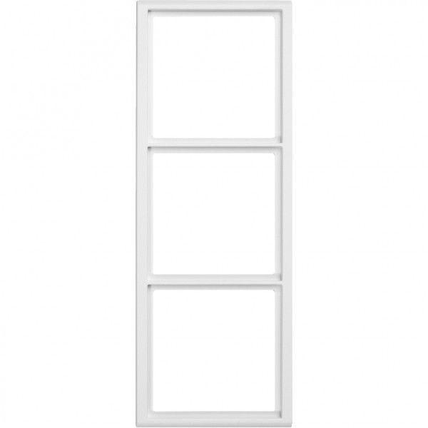 88914C3NV Rahmen für Abdeckplatten 3-fach Hochformat, weiß