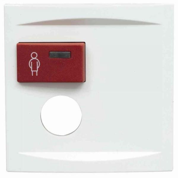 88881L3 Abdeckplatte mit Taste –rot– für 1 Steckkontakt, weiß, B: 68 mm H: 68 m