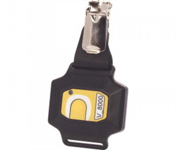 790P124 Personal-Transponder mit Knopf, mit eindimensional wirkender Antenne und Batterieübe