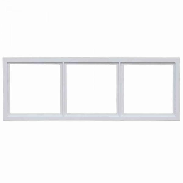 88914C3 Rahmen für Abdeckplatten 3-fach, weiß