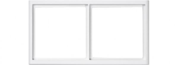 88914B3NH Rahmen für Abdeckplatten 2-fach Querformat, weiß