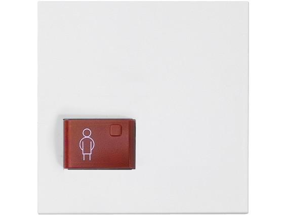 88881G3 Abdeckplatte mit Taste -rot-, weiß, B: 68 mm H: 68 m